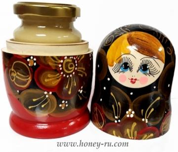 открытая Матрешка с медом - Подарок от Компании Правильный мед