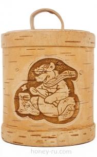 Мед в Подарочной Упаковке Туесок Тайга
