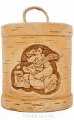Подарочная Упаковка №2 Туесок Тайга с баночкой меда 500 гр.